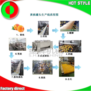 Electric peach processing equipment