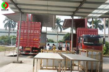 Customized vegetable processing and processing line completed delivery